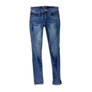 Express Jeans Denim Legging Distress Wash Skinny